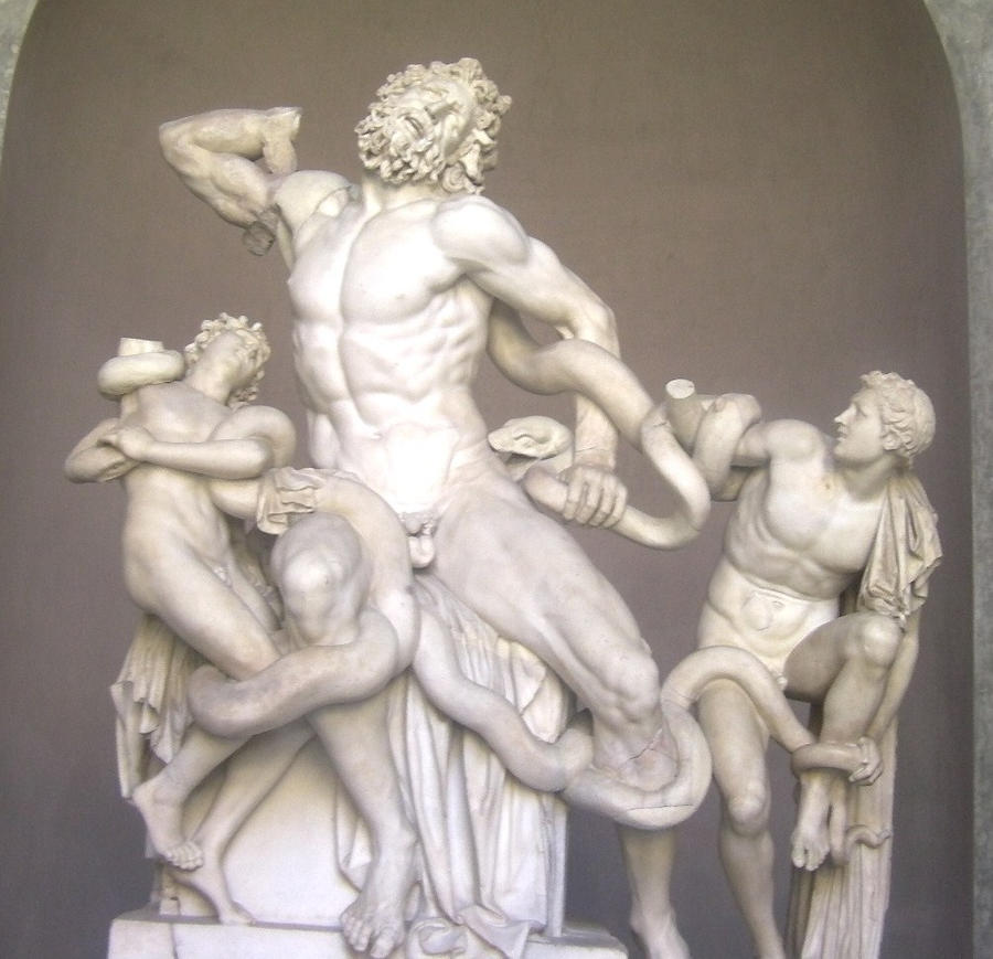 laocoon and his sons In another version of the story, it was said that poseidon sent the sea serpents to strangle and kill laocoön and his two sons according to apollodorus,  3240 laocoon, an asteroid named after laocoön notes references boardman, john ed, the oxford history of.