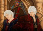 Devil May Cry 4:Dante and Nero by starxade