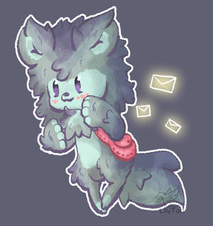 One-Off #2 - Little Red Mailing Wolf - CLOSED