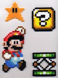 Mario, etc. in Perler Beads