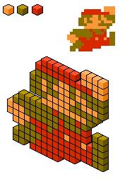 Isometric 8-Bit Mario 2 by BlueKecleon15
