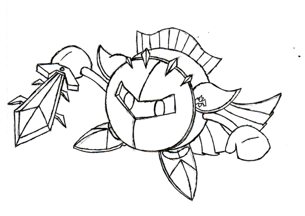Meta Knight Drawing By BlueKecleon15 On DeviantArt