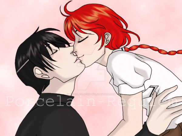 Lantis and Hikaru Kiss by Porcelain-Requiem