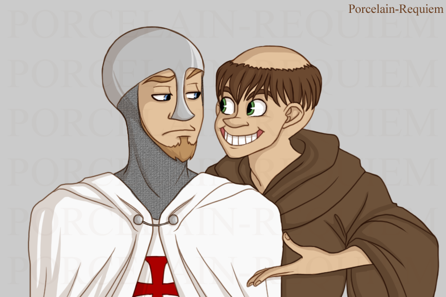 Sir Gregory and Brother Jude-Thaddeus by Porcelain-Requiem