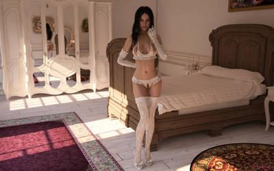 Princess Thora - Angel in white II by Nerddesign3d
