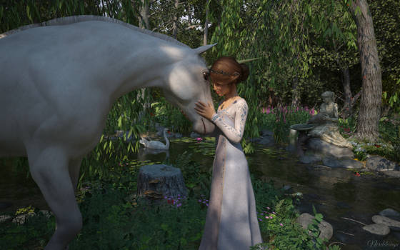 Aingeal and the unicorn