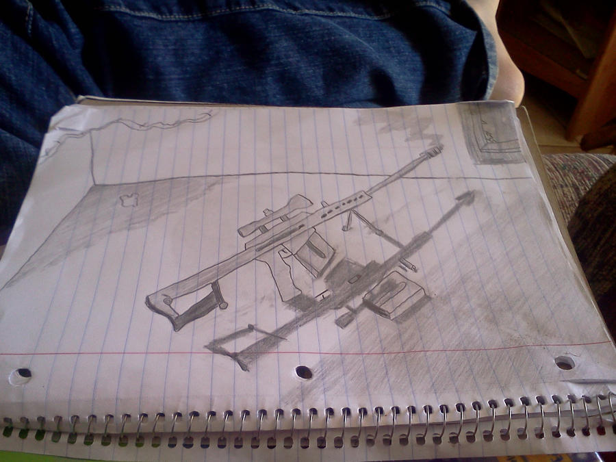M82 Barrett sniper rifle by Lucariolover1324