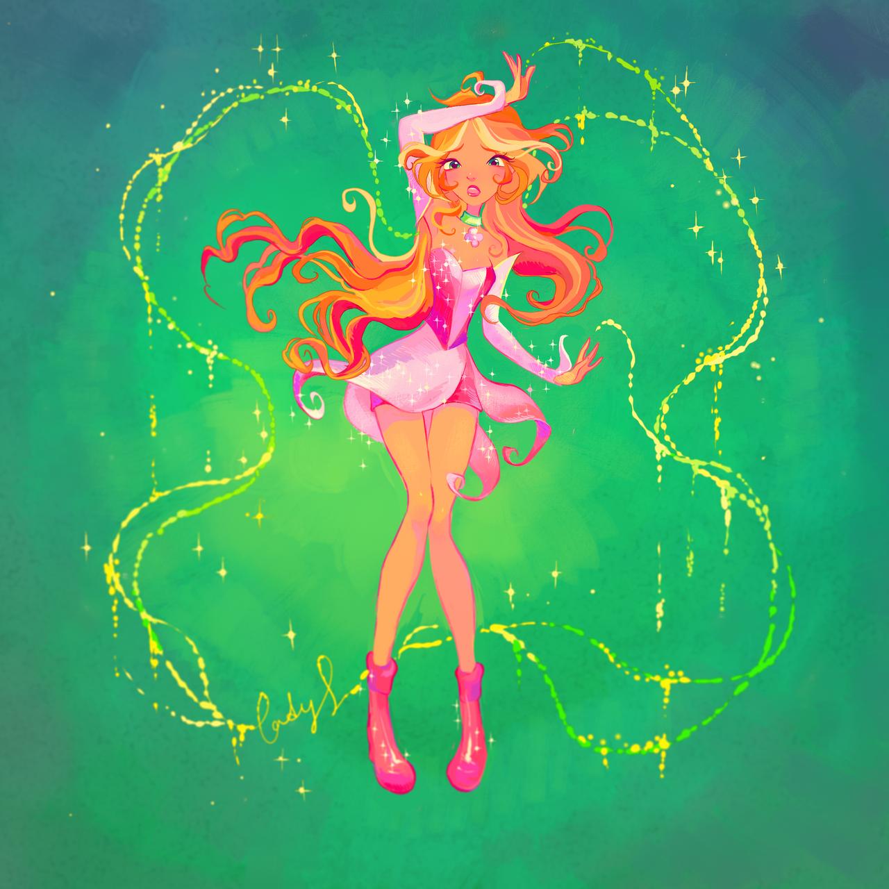 flora magic winx by ladyshalirin on deviantart