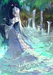 I slowly go, passing through willows by LadyShalirin