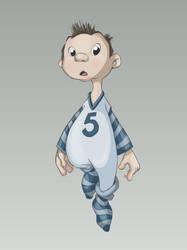 Boy in pajamas concept by MiuShery