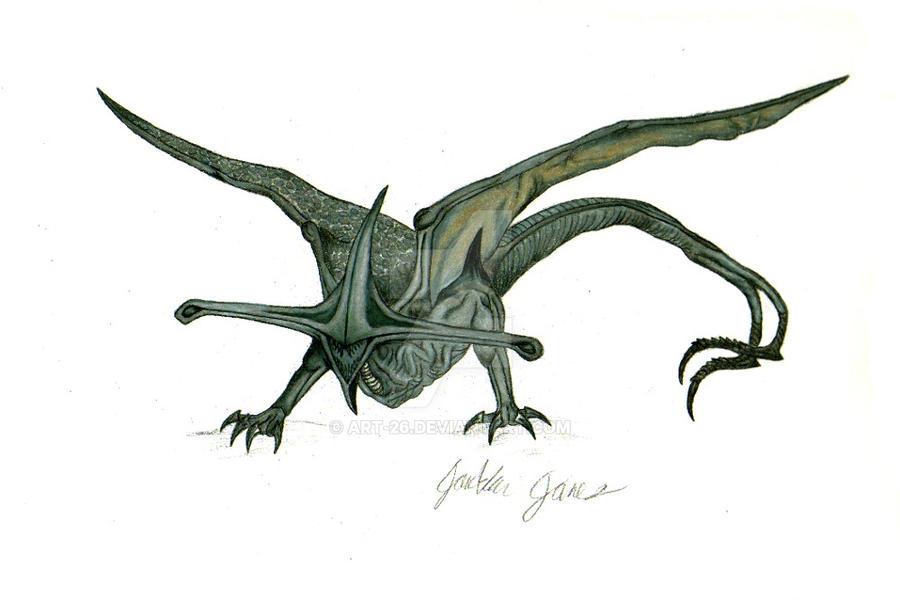 pitch_black_bioraptor_colored_pencil_by_