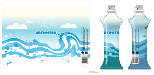 Art Water Label Contest entry by nishad2m8