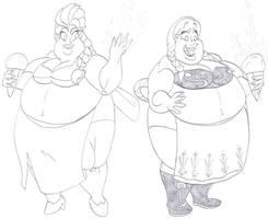 Elsa and Anna Sumo WG by CatsTuxedo