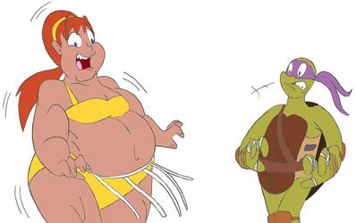 April ONeil Sumo Transformation 3/4 by CatsTuxedo on