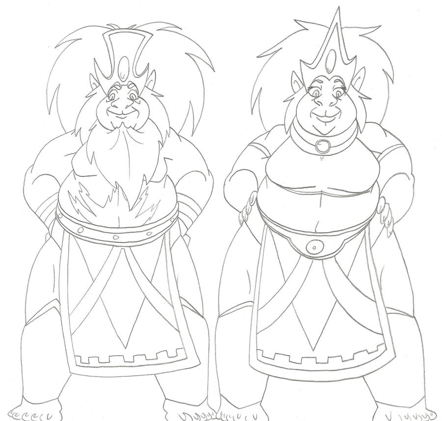 SuperRoomies: King Myand'r and Queen Luand'r by CatsTuxedo