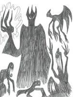 Inktober 3 - Master of Darkness by CatsTuxedo