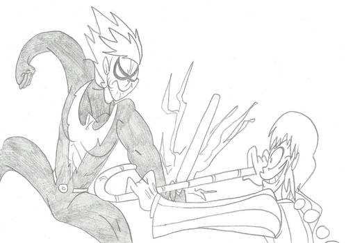 Nightwing Kaworu vs Joker Ranma by CatsTuxedo