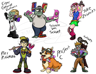 Midway Key Characters by Nyanbonecrush