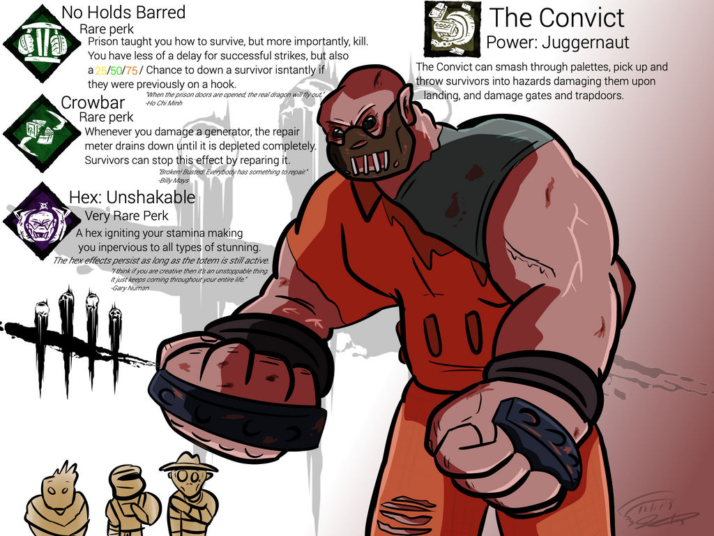 Dead By Daylight Killer- The Convict by Nyanbonecrush on