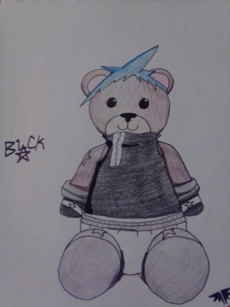 Black Star teddy bear by AuraLeighDragon