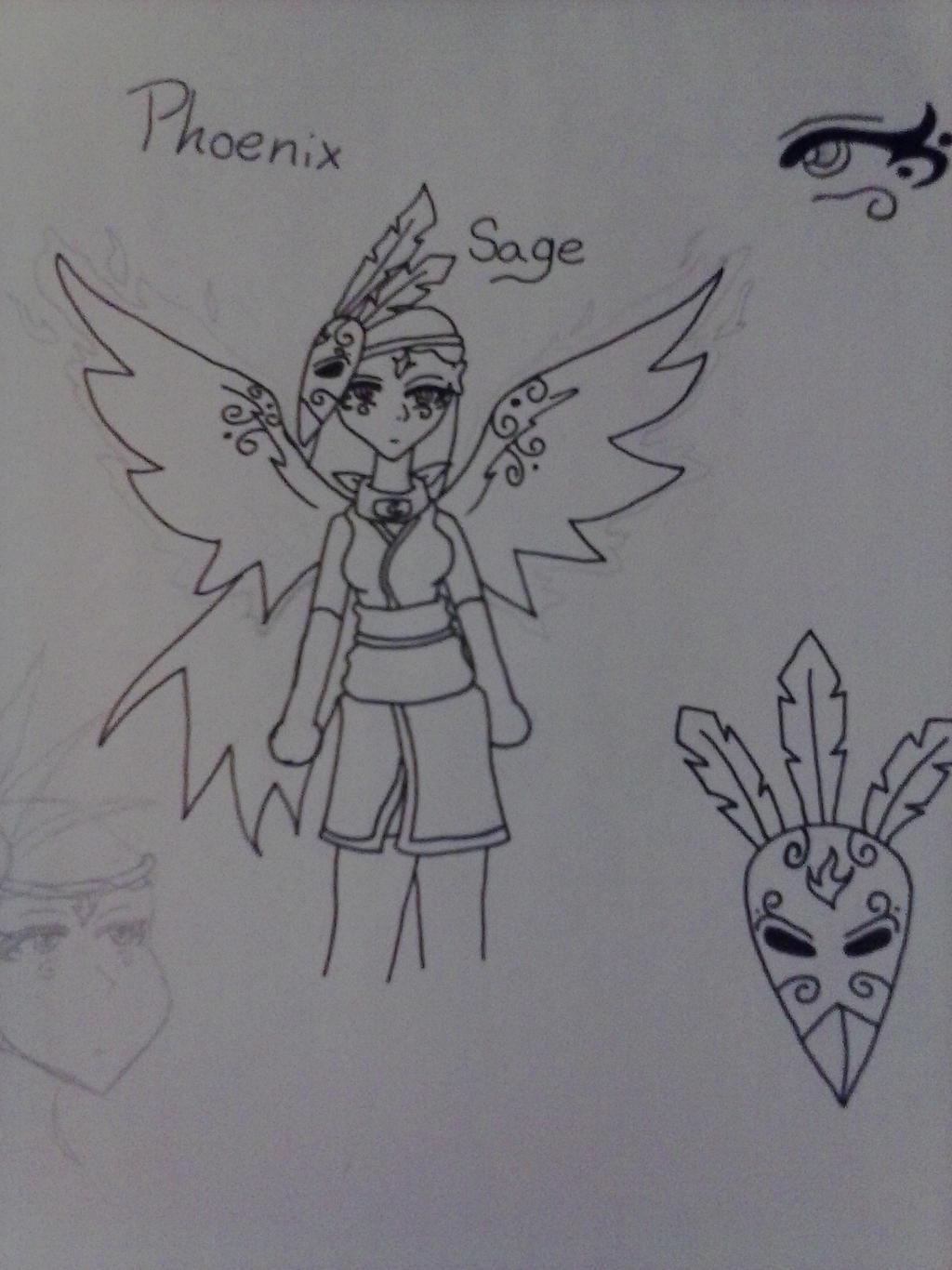 Phoenix Sage (naruto oc) by AuraLeighDragon