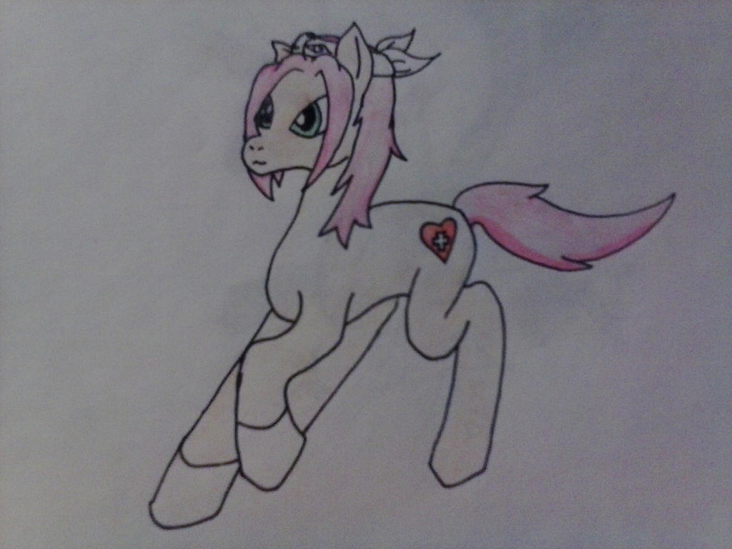My attempt at making Sakura into a pony by AuraLeighDragon