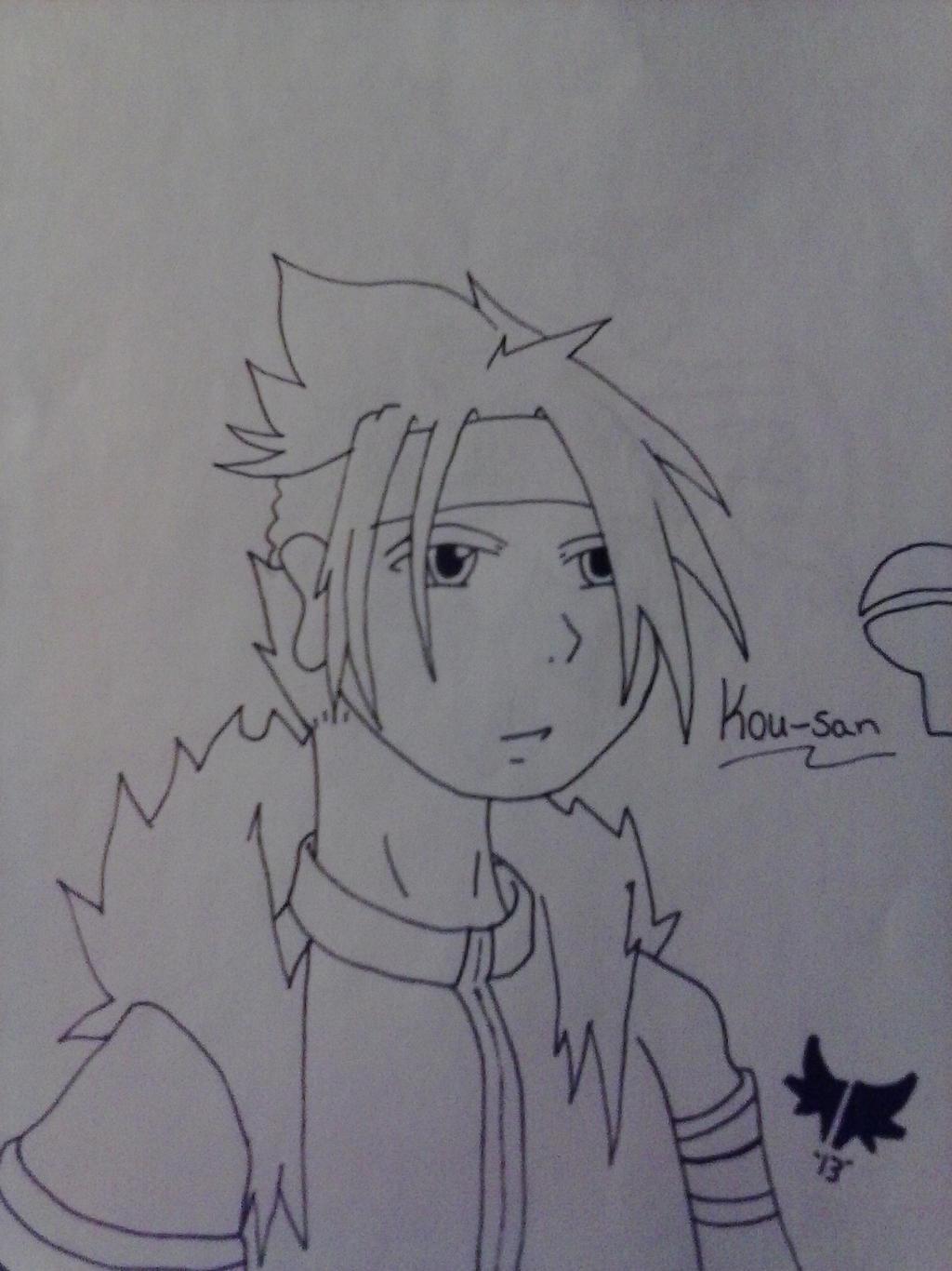 Kou-san (friend's Oc) by AuraLeighDragon