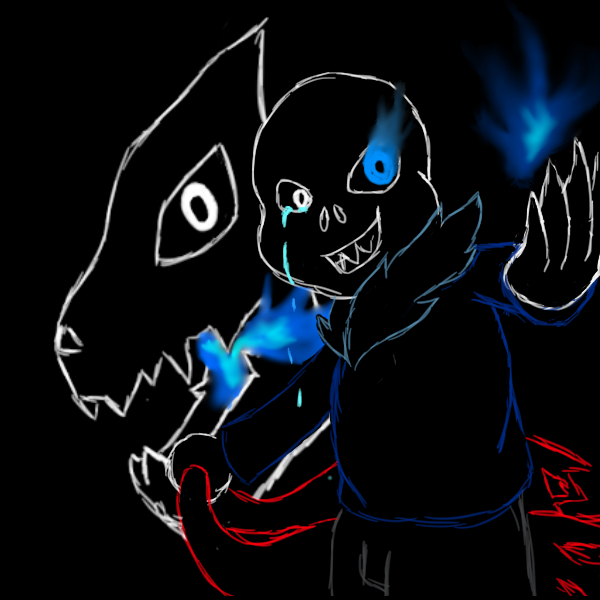 Sans Line art by AuraLeighDragon