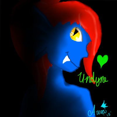 Undyne by AuraLeighDragon