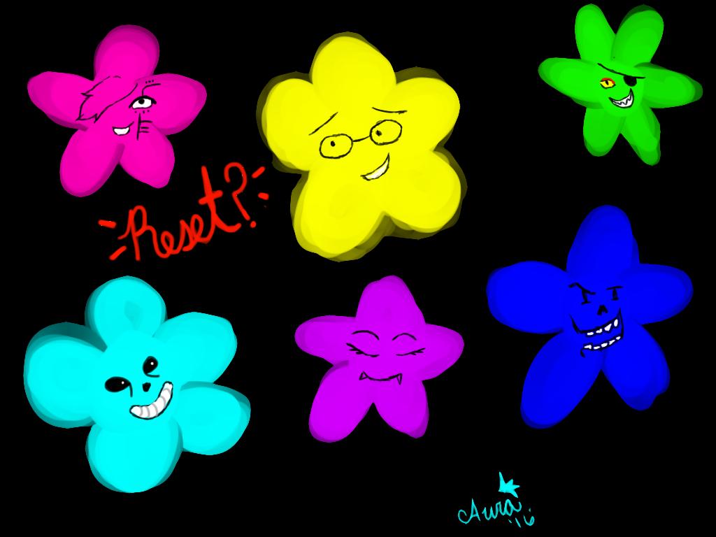 Undertale Flowers by AuraLeighDragon