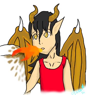 Dragon Kid by AuraLeighDragon