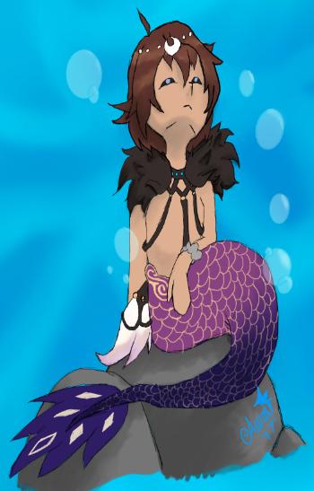 merman request by AuraLeighDragon