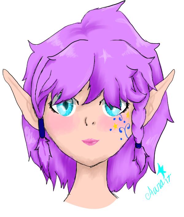 Elf girl by AuraLeighDragon