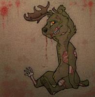 Zombie Moose Bear by S-Nova