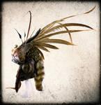 Springbok horns + Raccoon skull headpiece