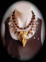 Tribal necklace by Genevieve-Amelia
