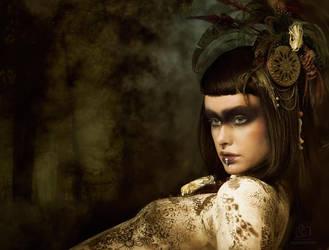 Tribal Portrait I by Genevieve-Amelia