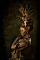 Tribal Portrait IV by Genevieve-Amelia