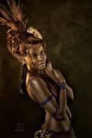 Tribal Portrait V by Genevieve-Amelia