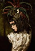 Tribal Portrait IX by Genevieve-Amelia