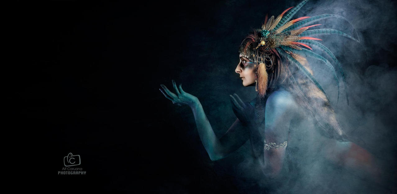 Tribal Portrait XI by Genevieve-Amelia
