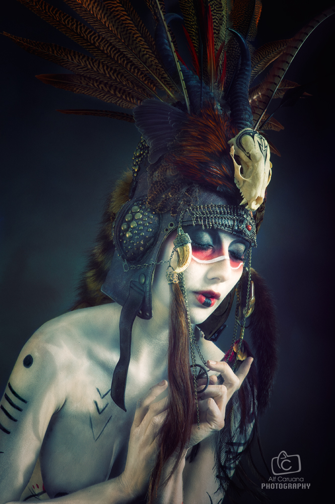 Tribal Portrait XIII by Genevieve-Amelia