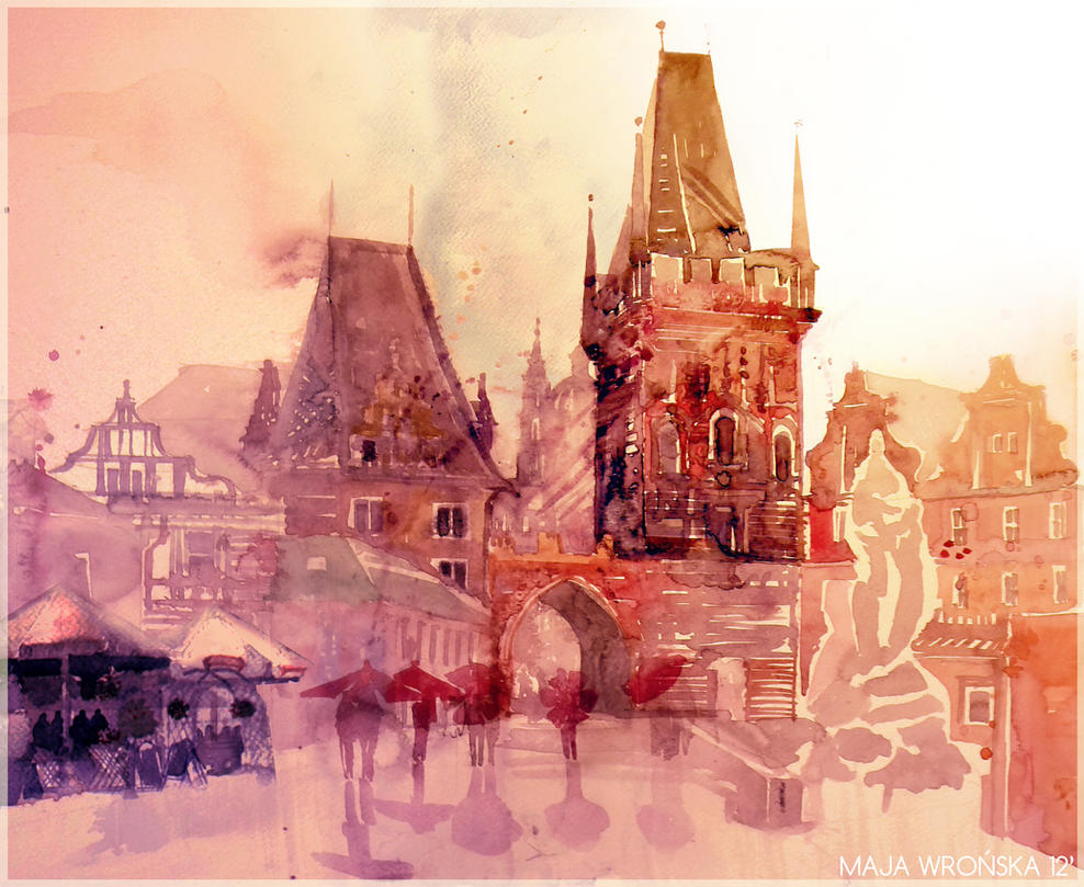 rain in Prague by takmaj
