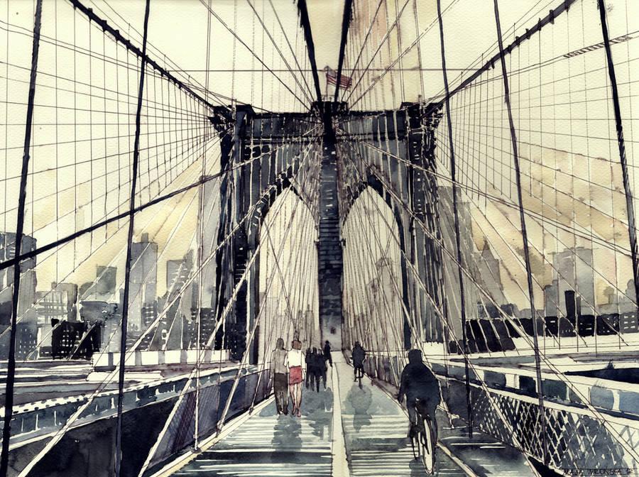 Brooklyn Bridge by takmaj