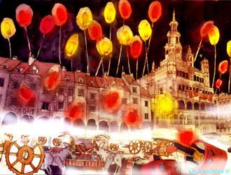 lanterns in Poznan by takmaj