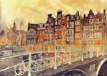 Evening in Amsterdam by takmaj
