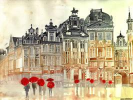 market in Brussels