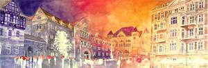 Sunset in Poznan