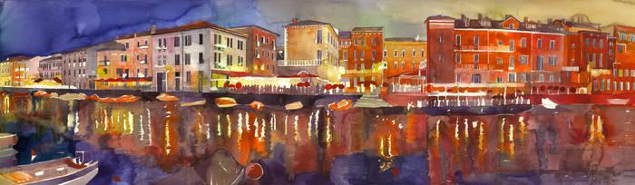 Night in Venezia by takmaj