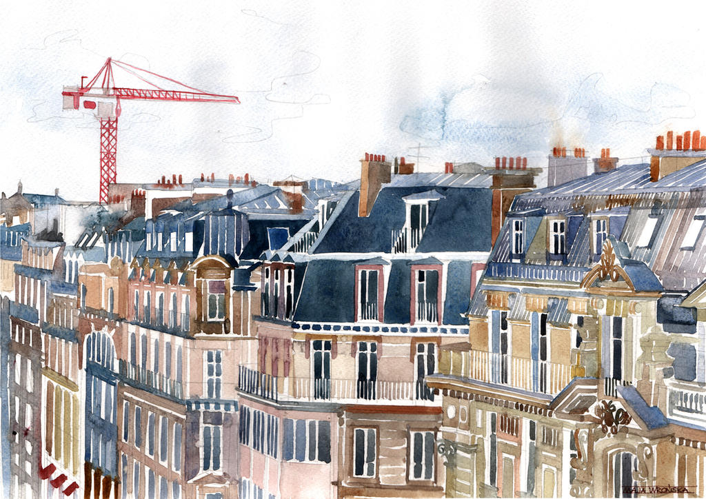 Roofs of Paris by takmaj